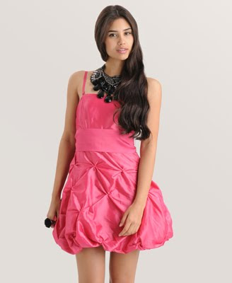Pinched Bubble homecoming Dress