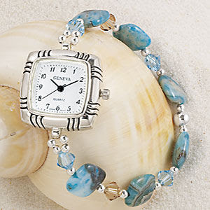 Sterling Crystal Stretch Quartz Watch