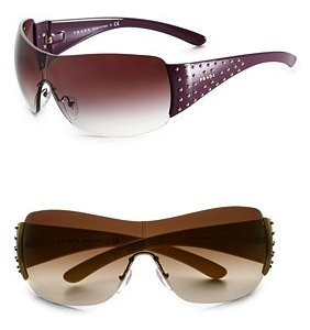 Prada Studded Shield Sunglasses