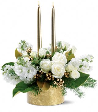 Hanukkah flower centerpiece