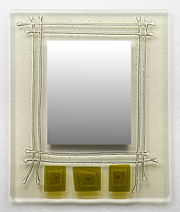 Trinity Art Glass Mirror