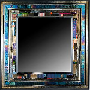 TerracedOne Art Glass Mirror