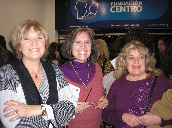 Marika Corti, Cristina Morandín y Silvia  Medina