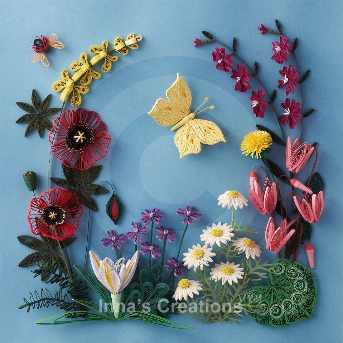 Maruti amazing quilling art for Landscape design paper