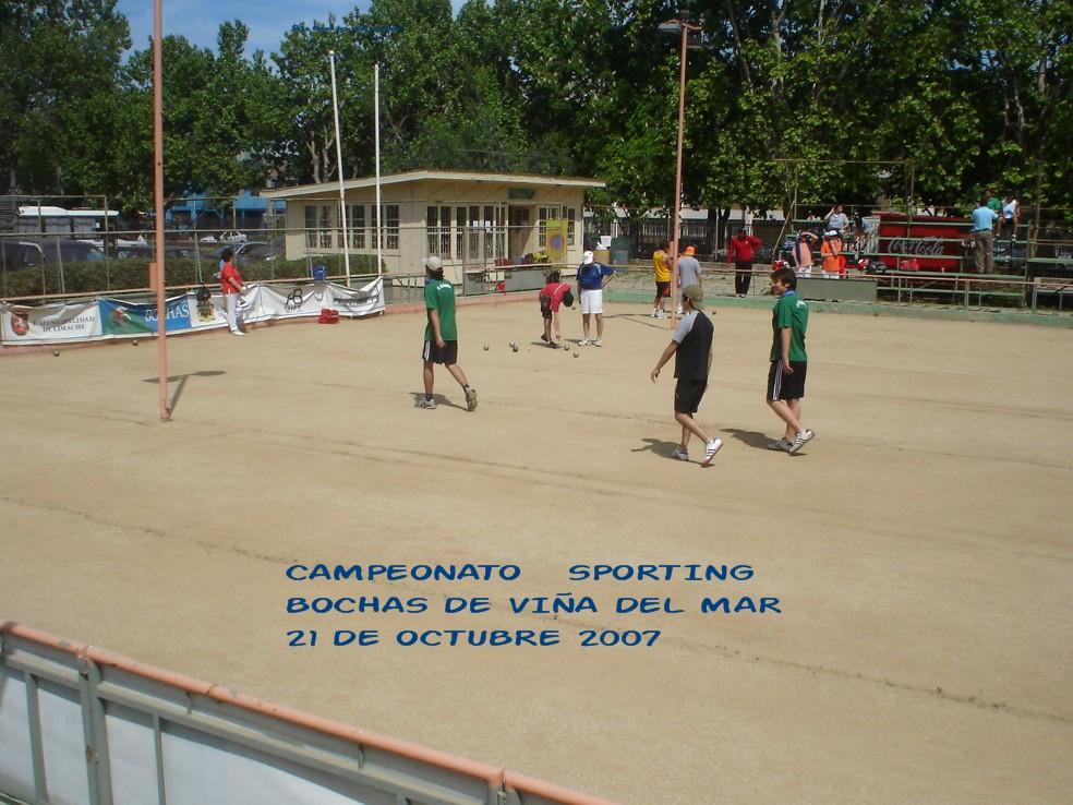 CAMPEONATO DE BOCHAS