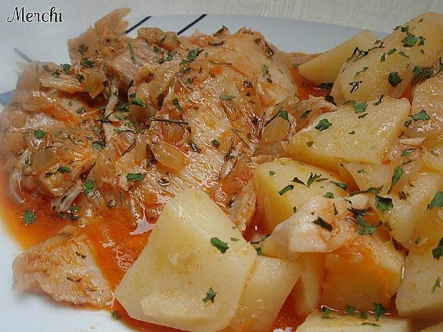 Con sabor a canela raya a la gallega for Cocinar raya a la gallega