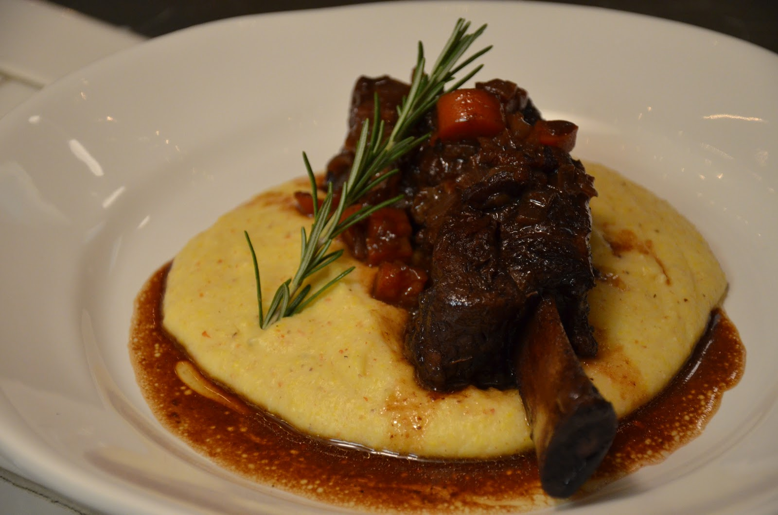 food for scot: Braised Short Ribs over Creamy Goat Cheese Polenta