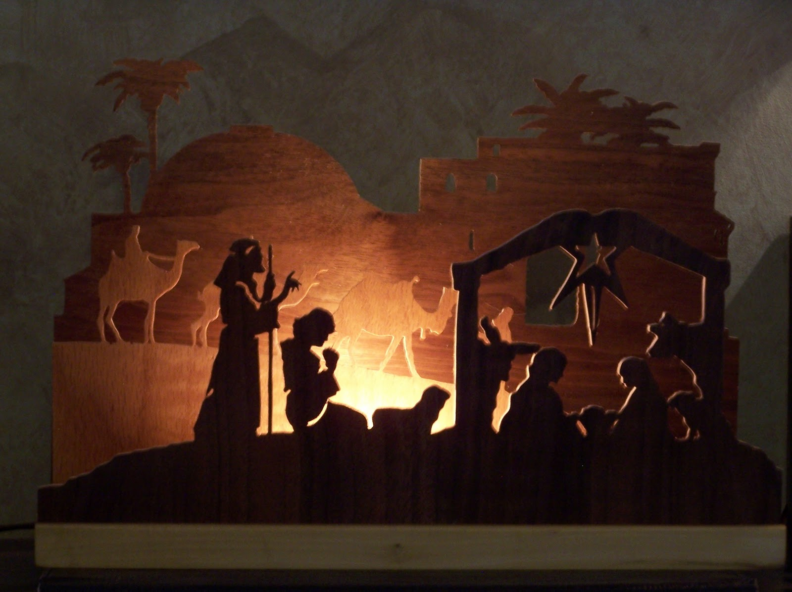 Nativity Scene Silhouette Pattern