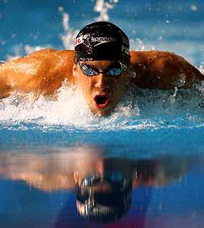 Michael Phelps é o principal nome atual da natação