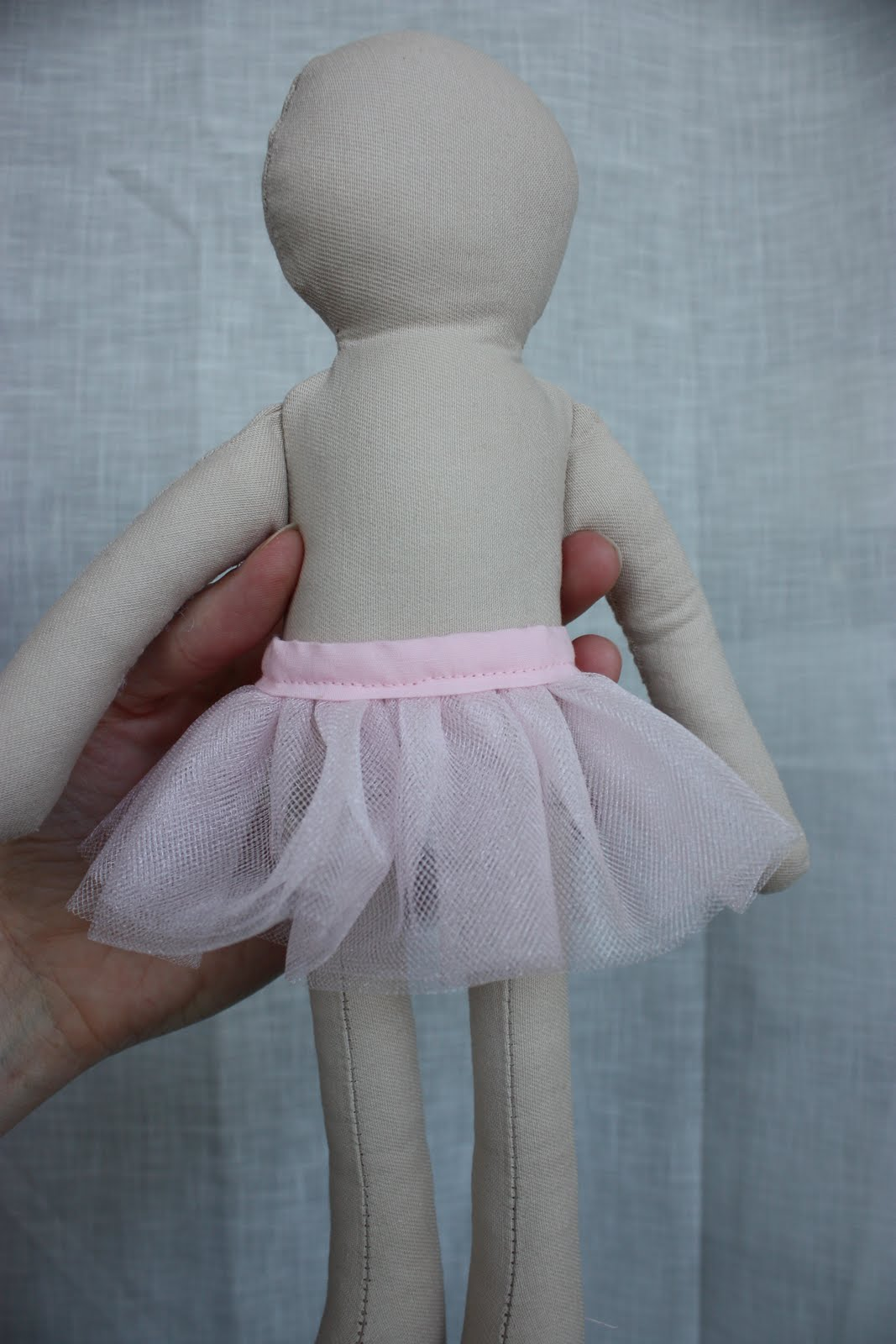 This fun little tutu has been the easiest rag doll project so far.