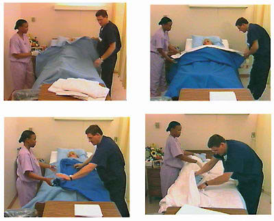 Making An Occupied Bed Cna Skill