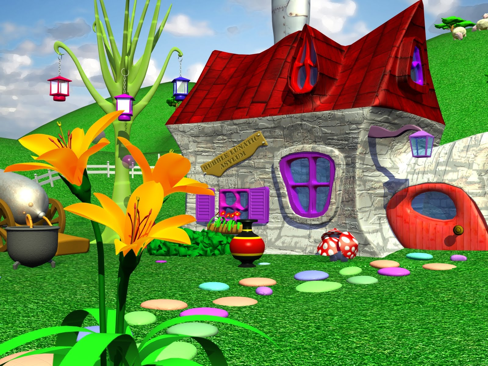 Univers createur creation d 39 une maison cartoon sur 3d for Creation maison 3d