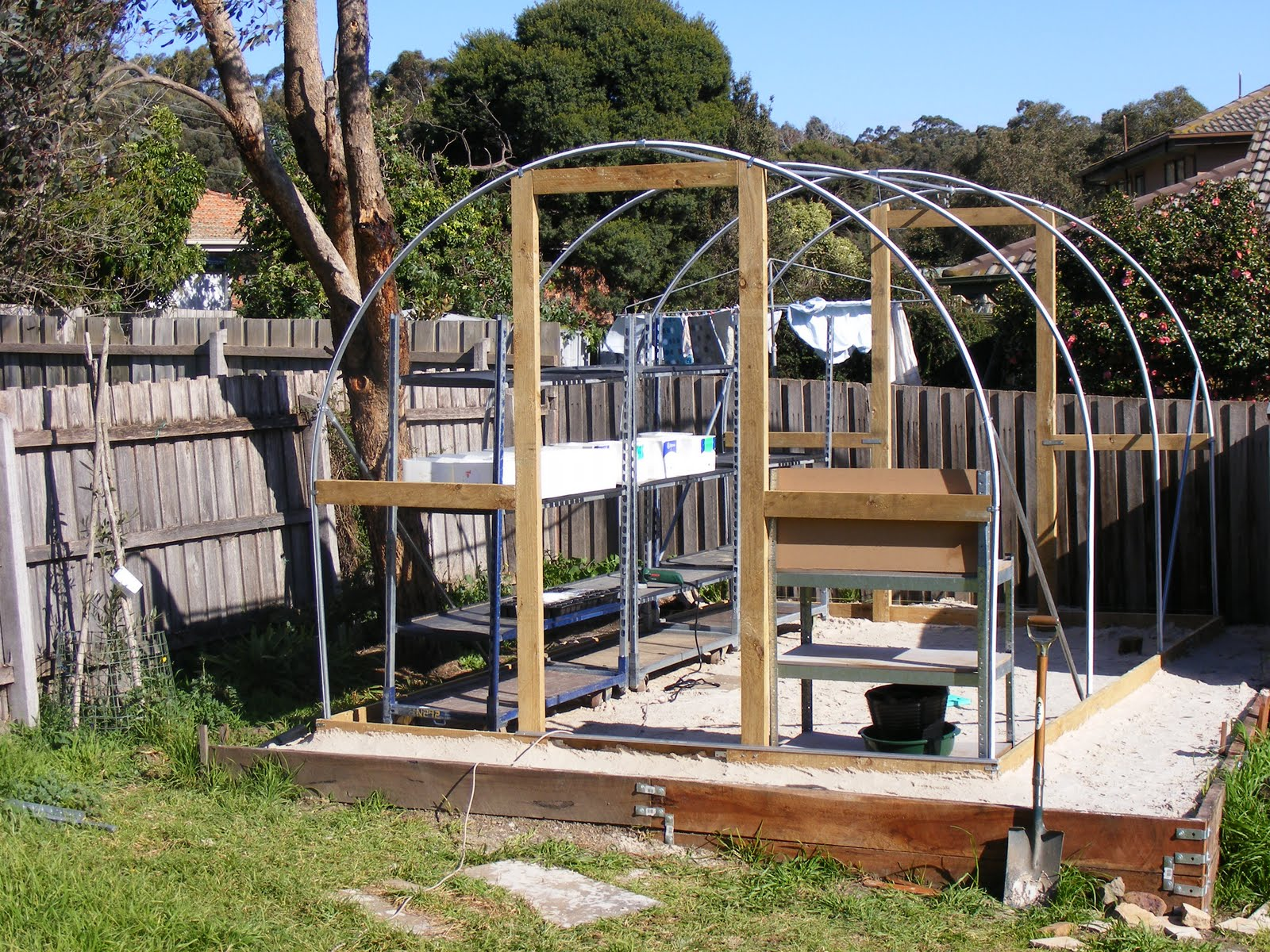 Backyard Self-Sufficiency: 3. Erection of the Greenhouse