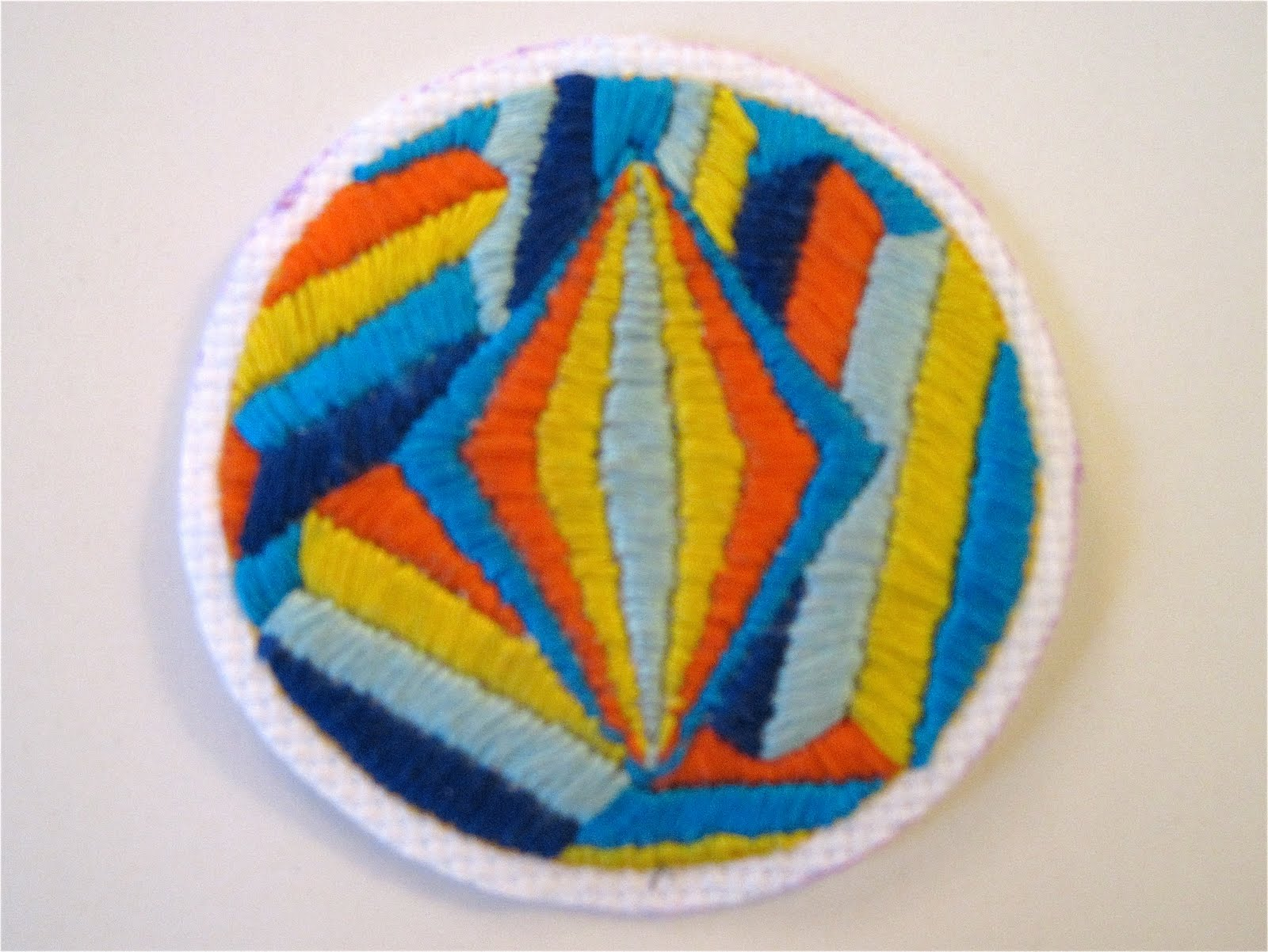 Zipper Teeth Hand Embroidered Patch
