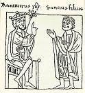 Sancho I de Aragon con su padre Ramiro I