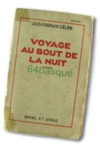 Cubierta de la 1ª edición de Voyage au bout de la nuit
