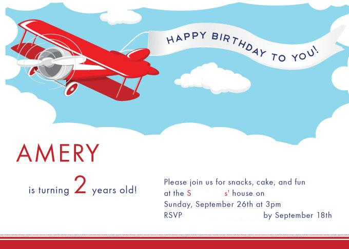 airplane themed birthday invitation ~ image inspiration of cake, Birthday invitations