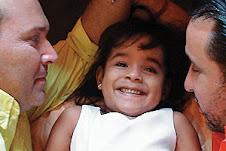 Vasco e Dorival com filha Teodora