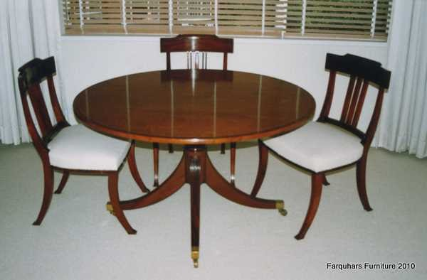 Farquhar s Furniture Regency Style dining chairs and table