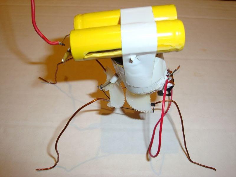 Как сделать робота из одной батарейки