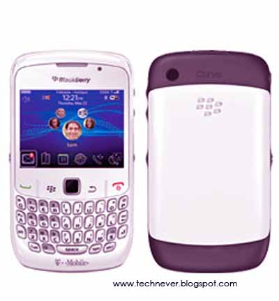 The BlackBerry Curve 8520 will now be available in White, Lavender and Black