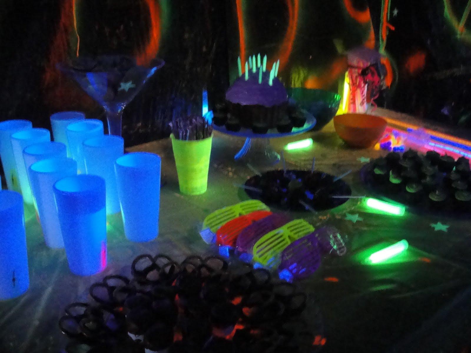 the cervantez family glow party. Black Bedroom Furniture Sets. Home Design Ideas