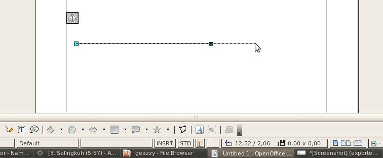 Open Office Drawing Lines : Tips membuat memperpanjang garis lurus di open office