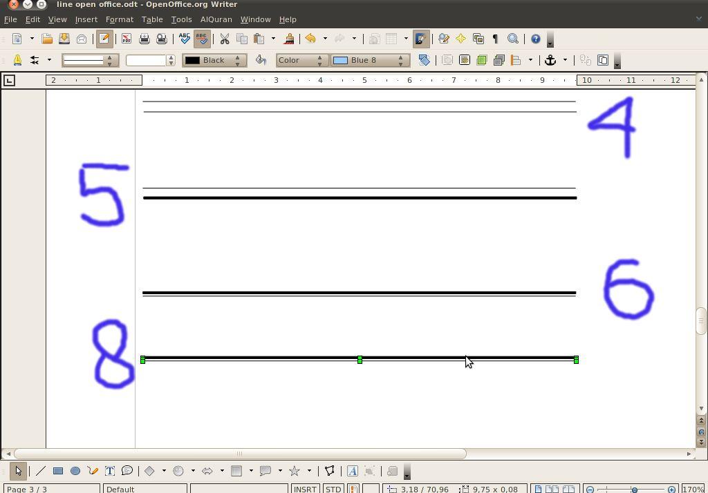 Open Office Drawing Lines : Membuat garis seperti ms office di open