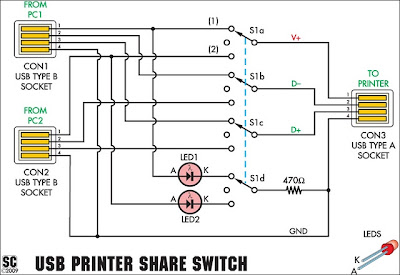 Circuit Diagram USB Printer Share Switch