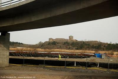 byggarbetare arbete vägarbete bohus fästning järnväg till trollhättan