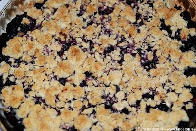 blåbär blueberry blåbärspaj pie smulpaj, foto anders n