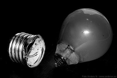 glödlampa, lightbulb, trasig, broken, foto anders n