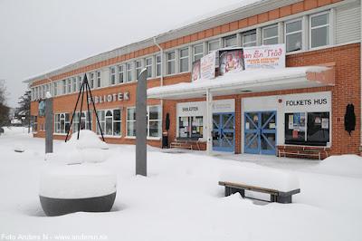 Olofström, Blekinge, snö, vinter, snow, winter, storgatan, folkets hus, bibliotek, aniara, hotell, nyårsrevy, revy, revygänget, det gamla, foto anders n