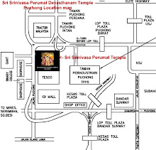 Temple Location Map