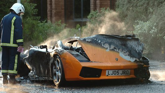 lamborgini gallardo burnt out
