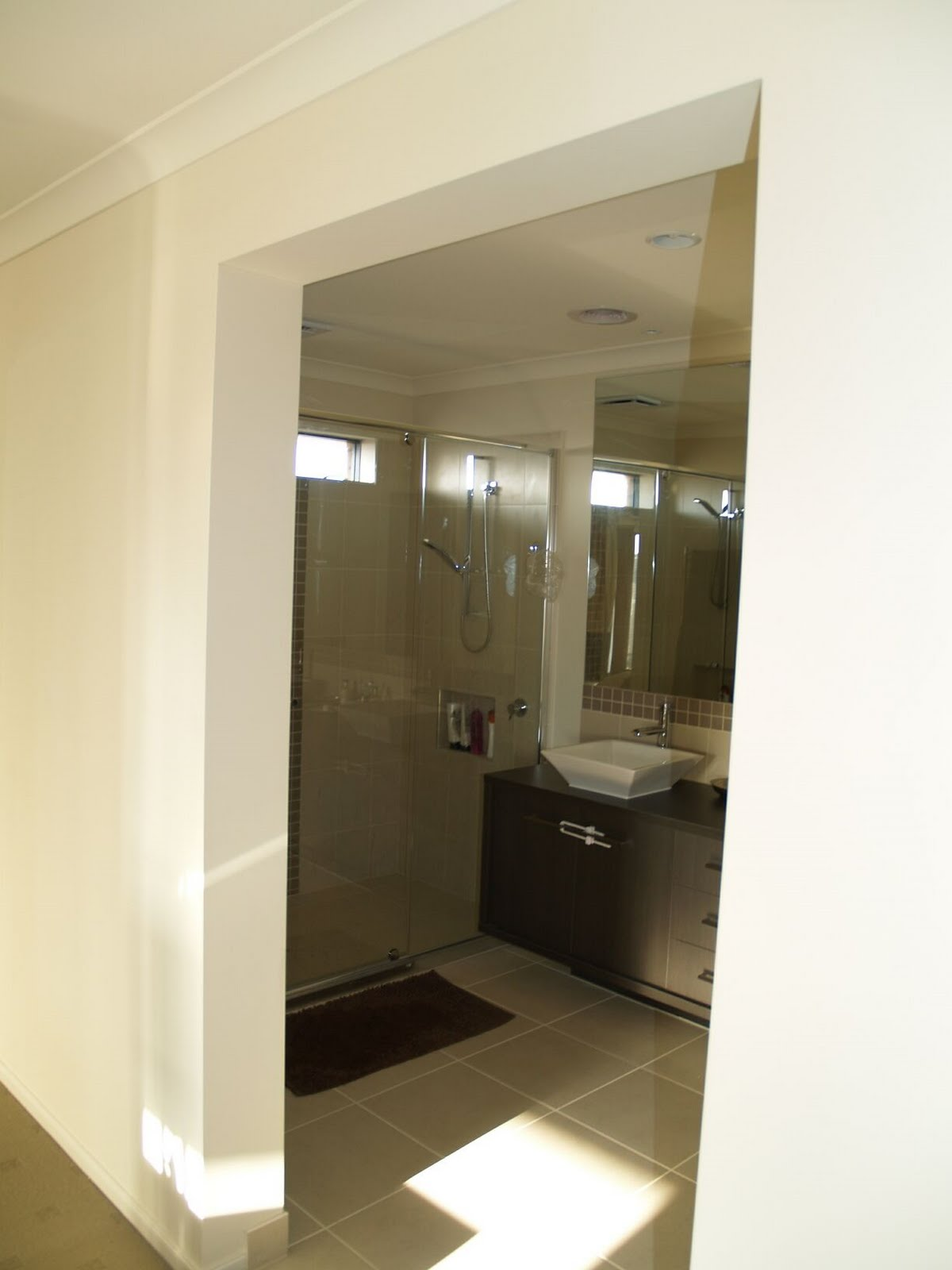 the master ensuite complete with a double shower