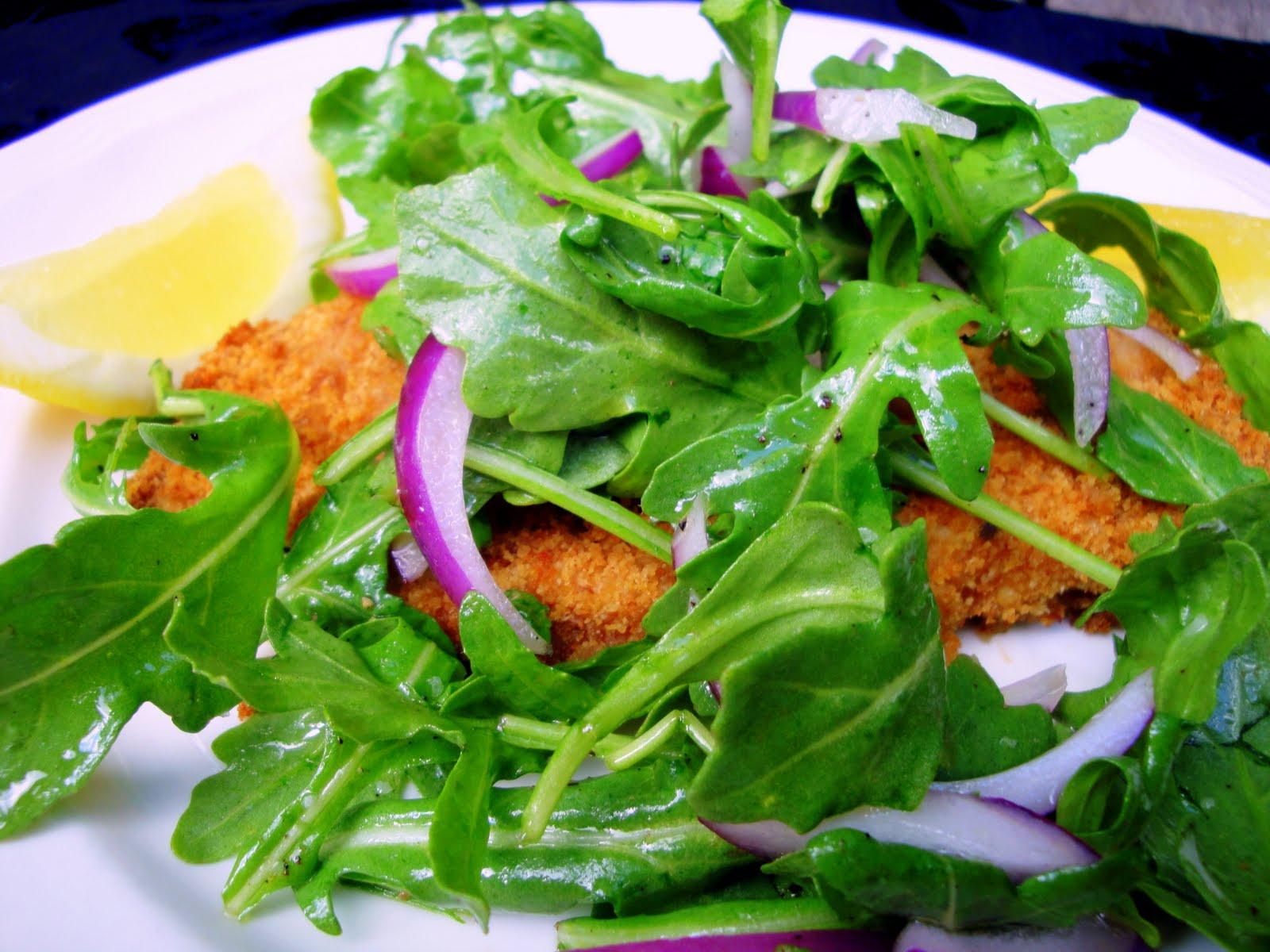 Veal Milanese With Arugula Salad Recipe — Dishmaps