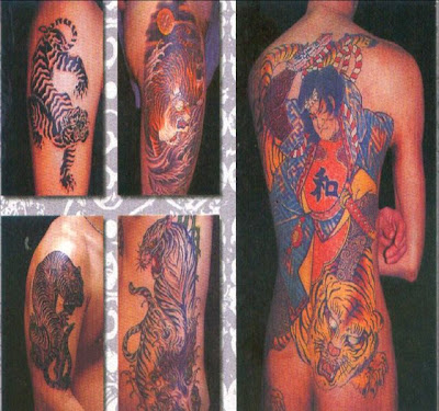japan tattoos - Tiger