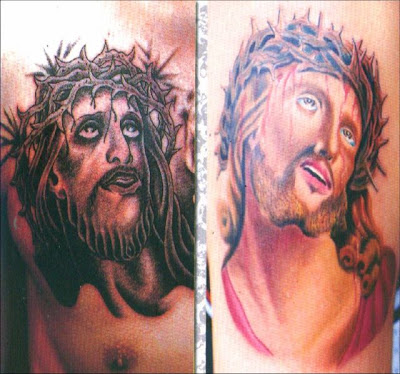 Jesus tattoos.
