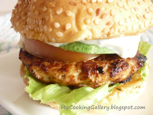 burger chicken recipe