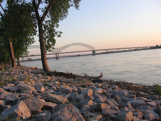 rocks along the banks of the Mississippi River
