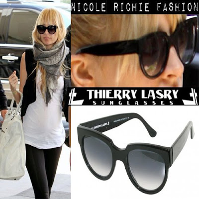 Nicole Richie appears everywhere with her Thierry Lasry sunglasses