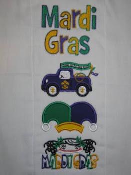 Mardi Gras Applique