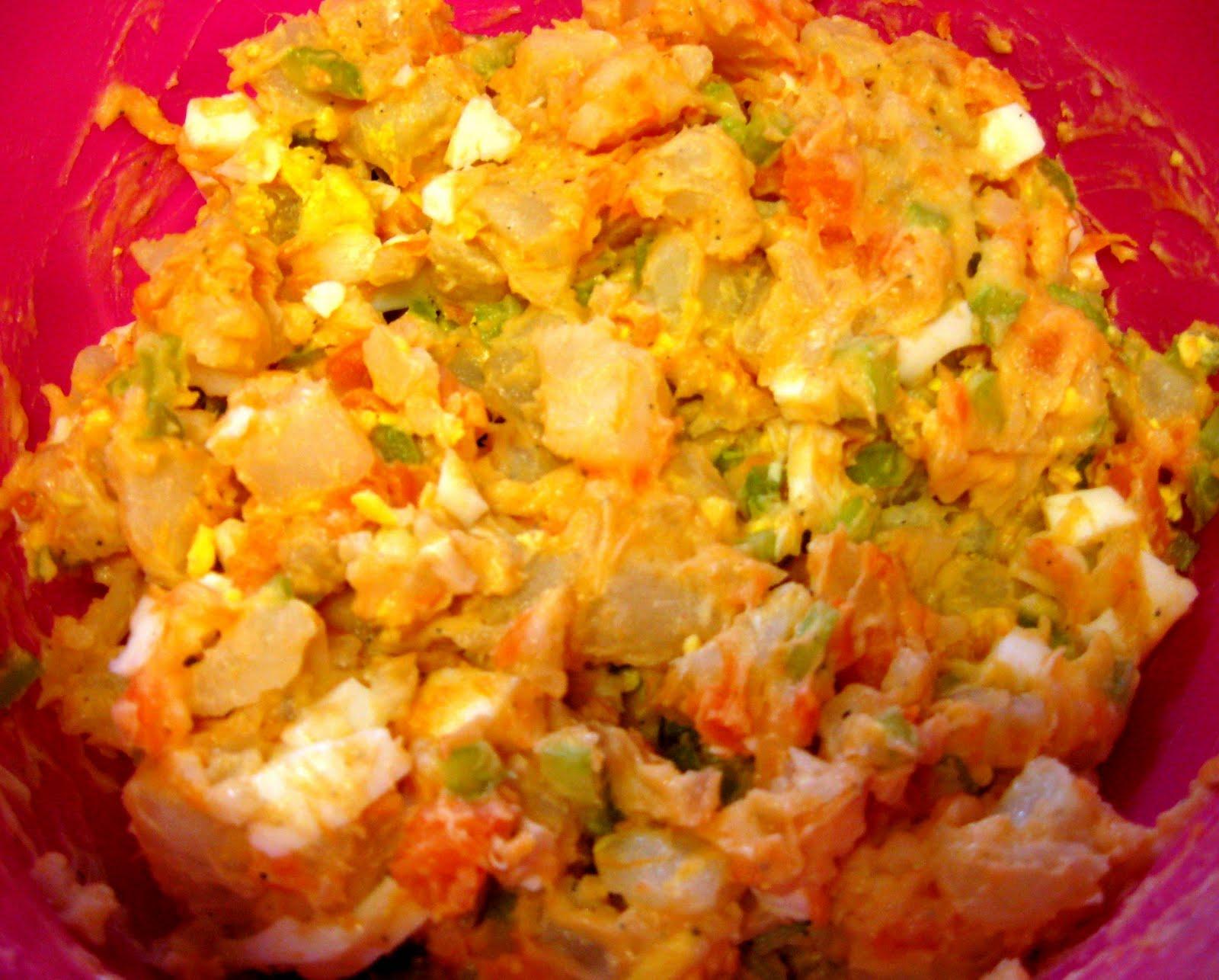 Debbi Does Dinner... Healthy & Low Calorie: Sweet Potato, Potato Salad