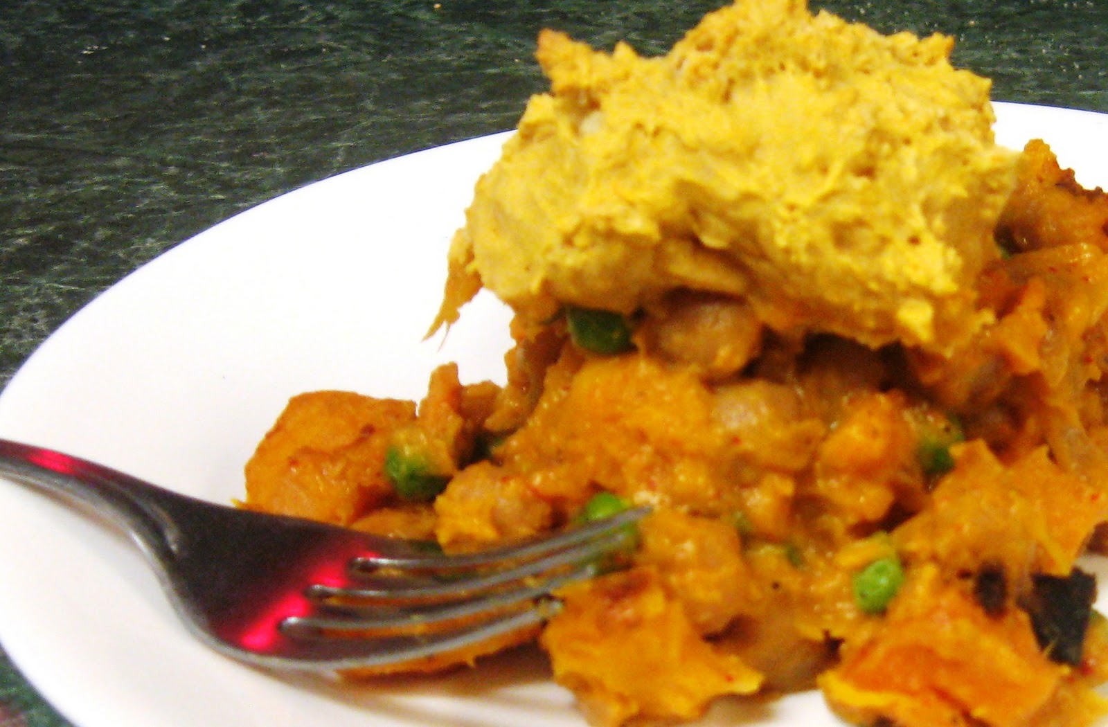 ... & Low Calorie: Chickpea Squash Pot Pie with Pumpkin Biscuit Crust