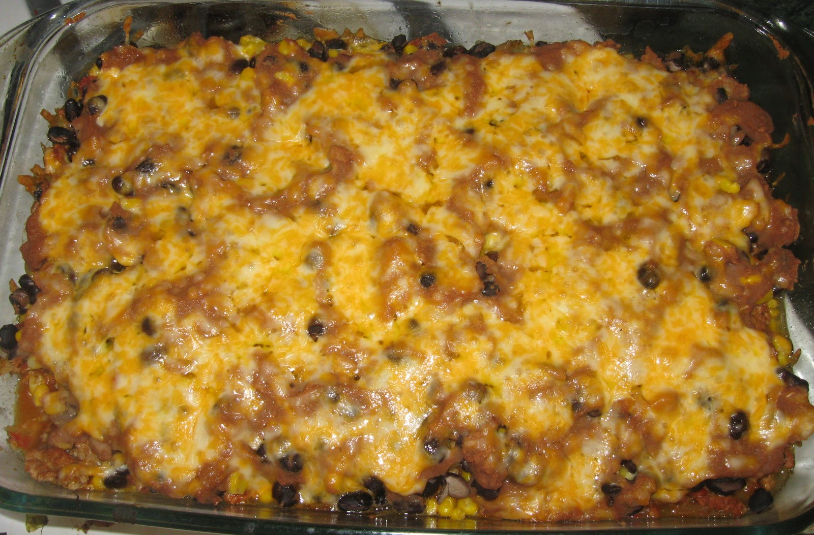 ... Low Calorie: La Bamba Mexican Casserole with Homemade Tortilla Chips
