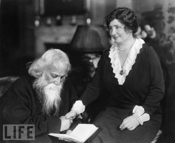 Helen Keller With Indian Poet Rabindranath Tagore - New York 1930
