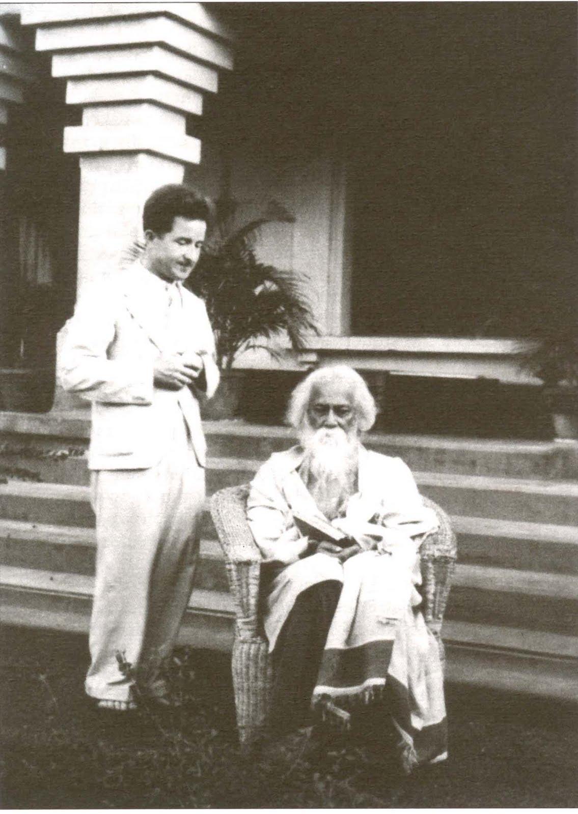 Astronomer Karel Hujer with Rabindranath Tagore - 1935