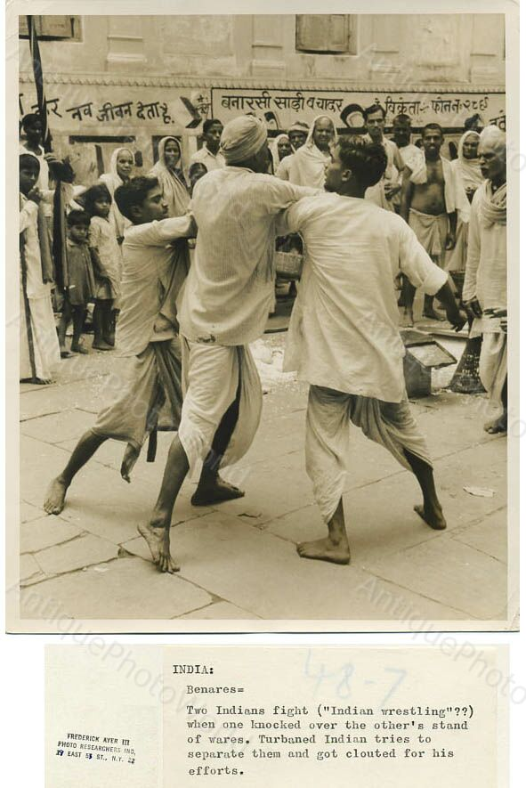 Fighting in Benares (Varanasi) - Date Unknown