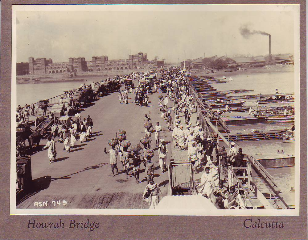 Old Howrah Bridge - Calcutta (Kolkata), c1920s
